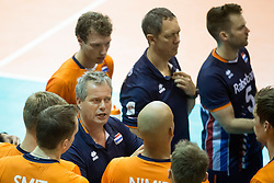 Players of Netherlands during volleyball match between national teams of Slovenia and Netherlands of 2018 CEV volleyball Godlen European League, on June 6, 2018 in Arena Bonifika, Koper, Slovenia. Photo by Urban Urbanc / Sportida