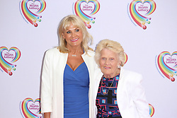 © Licensed to London News Pictures. 02/06/2014, UK. Carol Wright & Patricia 'Nanny Pat' Brooker, Health Lottery Tea Party, The Savoy Hotel, London UK, 02 June 2014. Photo credit : Brett D. Cove/Piqtured/LNP