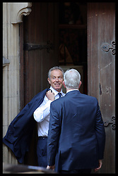 Former Prime Minister Tony Blair arriving at The Leveson Inquiry in London, Monday 28th May 2012  Photo by: Stephen Lock / i-Images