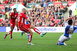 Aaron Wilbraham of Bristol City scores a goal to make it 1-0 - Rogan Thomson/JMP - 22/10/2016 - FOOTBALL - Ashton Gate Stadium - Bristol, England - Bristol City v Blackburn Rovers - Sky Bet EFL Championship.