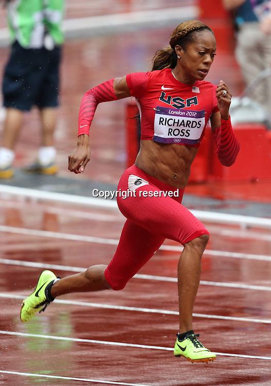 03.08.2012. London, England.  Olympic Games London 2012  Sanya Richards USA 400m Womens