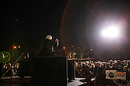 Democratic presidential candidate Bernie Sanders, speaks at a rally at St. Mary's Park in the South Bronx. The New York primary will be held April 19th.