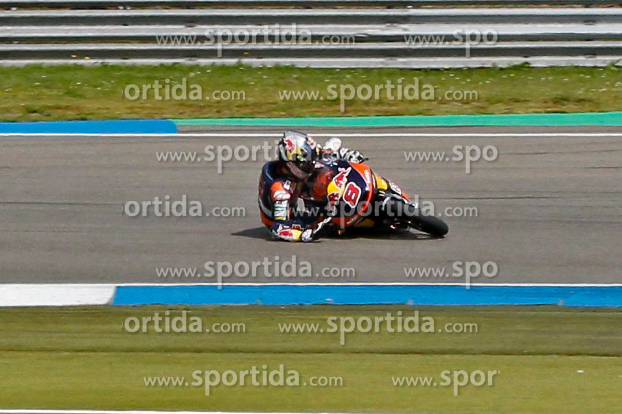 23.09.2012, TT Circuit, Assen, NED, MotoGP, Assen, im Bild Sturz 8 Jack Miller // during the MotoGP Iveco TT Assen at the TT Circuit in Assen, Netherlands on 2012/09/23. EXPA Pictures &copy; 2014, PhotoCredit: EXPA/ Eibner-Pressefoto/ FOTO-SPO_AG<br /> <br /> *****ATTENTION - OUT of GER*****