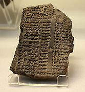 Ration list. This records allocations of food to groups of workers many of whom were Egyptian in origin. About 600-500BC. From Babylon or Sippar