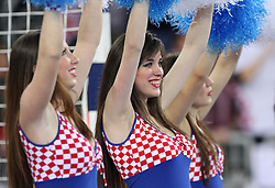 FlyGirlz Cheerleaders during 21st Men's World Handball Championship 2009 Main round Group I match between National teams of France and Croatia, on January 27, 2009, in Arena Zagreb, Zagreb, Croatia.  (Photo by Vid Ponikvar / Sportida)