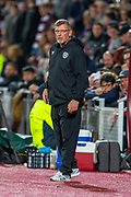 Heart of Midlothian manager Craig Levein during the Betfred Scottish Football League Cup quarter final match between Heart of Midlothian FC and Aberdeen FC at Tynecastle Stadium, Edinburgh, Scotland on 25 September 2019.