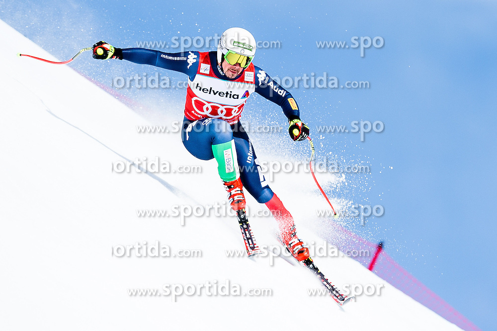 15.03.2016, Engiadina, St. Moritz, SUI, FIS Weltcup Ski Alpin, St. Moritz, Abfahrt, Herren, 1. Training, im Bild Peter Fill (ITA) // competes in his 1st training run for the men's Downhill of St. Moritz Ski Alpine World Cup finals at the Engiadina in St. Moritz, Switzerland on 2016/03/15. EXPA Pictures &copy; 2016, PhotoCredit: EXPA/ Freshfocus/ Manuel Lopez<br /> <br /> *****ATTENTION - for AUT, SLO, CRO, SRB, BIH, MAZ only*****