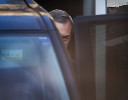 © Licensed to London News Pictures. 06/02/2017. London, UK. Nigel Farage leaves his London house after it was revealed that French politician Laure Ferrari has also been staying at the £4 million property. Photo credit: Peter Macdiarmid/LNP