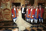Lauren Bush and her escort Prince Louis de Bourbon. Crillon Haute Couture Ball. Crillon Hotel, Paris. 2 December 2000. © Copyright Photograph by Dafydd Jones 66 Stockwell Park Rd. London SW9 0DA Tel 020 7733 0108 www.dafjones.com