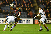 Viliame Mata on the ball during the Guinness Pro 14 2017_18 match between Edinburgh Rugby and Glasgow Warriors at Murrayfield, Edinburgh, Scotland on 23 December 2017. Photo by Kevin Murray.