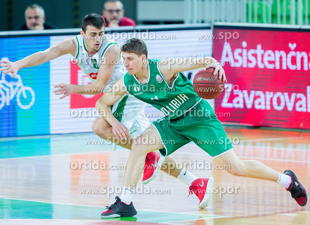 Tevz Ruzic of KD Ilirija during basketball match between KK Petrol Olimpija and KK Ilirija in 1st Round of Nova KBM Basketball League 2017/18, on December 29, 2017 in Arena Stozice, Ljubljana, Slovenia. Photo by Ziga Zupan / Sportida