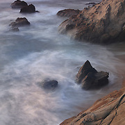 Rock Islands - Sunset - Pescadero State Beach, CA