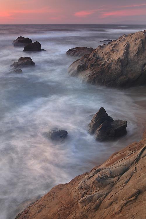 Rock Islands - Sunset - Pescadero State Beach, CA