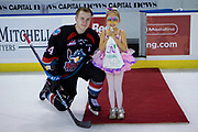 KELOWNA, CANADA - OCTOBER 27: Third star of the game Conner Bruggen-Cate #20 of the Kelowna Rockets at the Kelowna Rockets game on October 27, 2018 at Prospera Place in Kelowna, British Columbia, Canada. (Photo By Cindy Rogers/Nyasa Photography, *** Local Caption ***