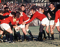 Gordon Brown and Roger Uttley (Lions no6) right, South Africa v British Lions, 1974. Credit: Colorsport.     (ORIGINAL DAMAGED).
