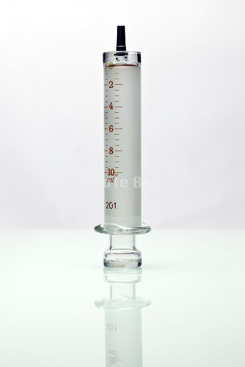 old style antique glass syringe