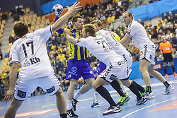 Zarabec Miha #23 of RK Celje Pivovarna Lasko during handball match between RK Celje Pivovarna Lasko (SLO) and IFK Kristianstad (SWE) in Group phase of EHF Men's Champions League 2016/17, on February 11, 2017 in Arena Zlatorog, Celje, Slovenia. Photo by Grega Valancic
