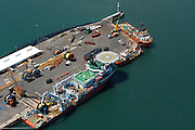 Long line cable laying vessel in Cape Town Port