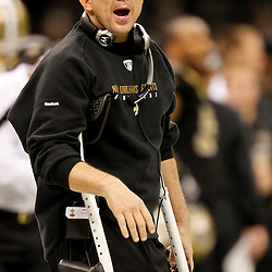 November 28, 2011; New Orleans, LA, USA; New Orleans Saints head coach Sean Payton on the sideline during the second half of a game against the New York Giants at the Mercedes-Benz Superdome. The Saints defeated the Giants 49-24. Mandatory Credit: Derick E. Hingle-US PRESSWIRE