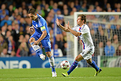 LONDON, ENGLAND - September 18: Chelsea's Frank Lampard  during the UEFA Champions League Group E match between Chelsea from England and Basel from Switzerland played at Stamford Bridge, on September 18, 2013 in London, England. (Photo by Mitchell Gunn/ESPA)