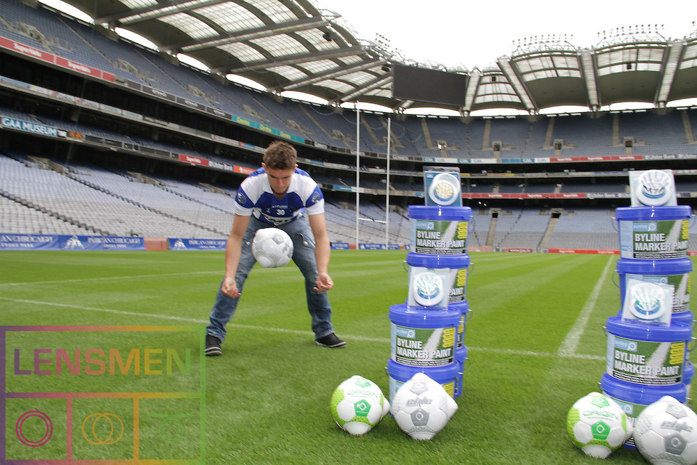 Lensmen Photographic Agency in Dublin, Ireland.<br /> Shane Curran, Global Flood Solutions &amp; ex-Roscommon GAA footballer; Matty Waslh, MW Hire Group &amp; ex-Kilkenny Hurler ,who will also be having their photos taken with two current GAA players. They will also have a product with them call the Big Bag System, which can be see here: globalfloodsolutions.com. .Shane's other company Puntee Products and will be with his business partner Ronnie Byrne and will also feature the two GAA players using a couple of products. One is a kicking tee and the other is training ball for goalkeepers.