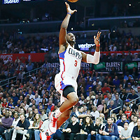 07 November 2016: Los Angeles Clippers guard Chris Paul (3) goes for the layup during the LA Clippers 114-82 victory over the Detroit Pistons, at the Staples Center, Los Angeles, California, USA.