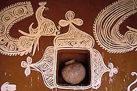 Inde - Rajasthan - Village des environs de Tonk - Peintures murales (Thapa)
