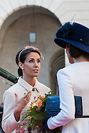 04.10.2016. Copenhagen, Denmark.  <br /> Princess Marie, Crown Princess Mary attended the opening session of the Danish Parliament (Folketinget) at Christiansborg Palace in Copenhagen, Denmark.<br /> Photo: &copy; Ricardo Ramirez