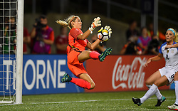 September 19, 2017 - Cincinnati, OH, USA - Cincinnati, OH - Tuesday September 19, 2017: Erin Naylor during an International friendly match between the women's National teams of the United States (USA) and New Zealand (NZL) at Nippert Stadium. (Credit Image: © Brad Smith/ISIPhotos via ZUMA Wire)