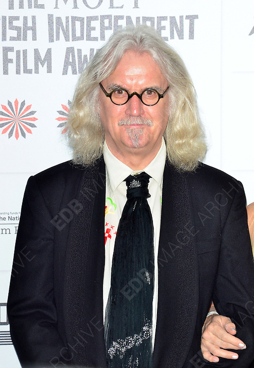 09.DECEMBER.2012. LONDON<br /> <br /> BILLY CONNOLLY ATTENDS THE BRITISH INDEPENDENT FILM AWARDS AT OLD BILLINGSGATE MARKET. <br /> <br /> BYLINE: JOE ALVAREZ/EDBIMAGEARCHIVE.CO.UK<br /> <br /> *THIS IMAGE IS STRICTLY FOR UK NEWSPAPERS AND MAGAZINES ONLY*<br /> *FOR WORLD WIDE SALES AND WEB USE PLEASE CONTACT EDBIMAGEARCHIVE - 0208 954 5968*