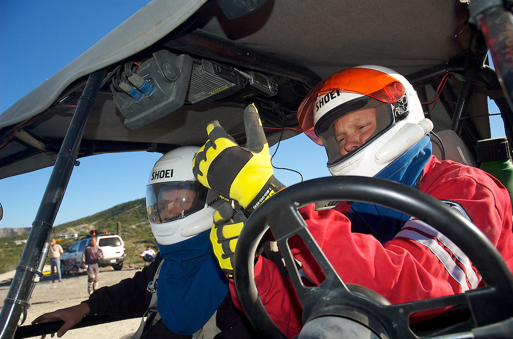 Bart Dixon quickly prepares to drive the Baja 1000 course backwards looking for a lost racecar with a broken radio.