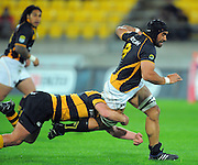 Wellington's Victor Vito takes the ball up. ITM Cup rugby union - Wellington Lions v Taranaki at Westpac Stadium, Wellington, New Zealand on Saturday, 16 October 2010. Photo: Dave Lintott / photosport.co.nz
