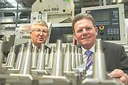 Brendan McDermott, Regional Director Midlands and West, Ulster Bank and last years winner Eddie Kenny, Caragh Precision.  Photo:Andrew Downes XPOSURE