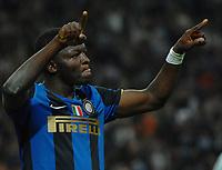 Fotball<br /> Italia<br /> Foto: Inside/Digitalsport<br /> NORWAY ONLY<br /> <br /> Sulley Muntari (Inter) esulta dopo il gol<br /> <br /> 02.05.2009<br /> Inter v Lazio (2-0)