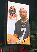 General overall view of Nike advertisement for the Colin Kaepernick icon jersey at thei intersection of Seventh Ave. and West 34th Street in New York, NY, Friday, Feb 22, 2019.  The black jersey with the silver No. 7 was launched days after Kaepernick settled his collusion case against the NFL for an undisclosed sum.