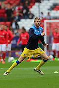 AFC Wimbledon defender Chris Robertson (34) prior the EFL Sky Bet League 1 match between Charlton Athletic and AFC Wimbledon at The Valley, London, England on 17 September 2016. Photo by Stuart Butcher.