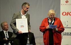 DK caption:<br /> Herning, Danmark, 20140221: <br /> MCH Messe, Ferie for alle.  Danish Coach Award 2014. Årets Innovatør på busområdet: Papuga<br /> Foto: Lars Møller<br /> UK Caption:<br /> Herning, Denmark, 20140221: <br /> MCH Fair, Ferie for alle.   Danish Coach Award 2014. Årets Innovatør på busområdet: Papuga<br /> Photo: Lars Moeller