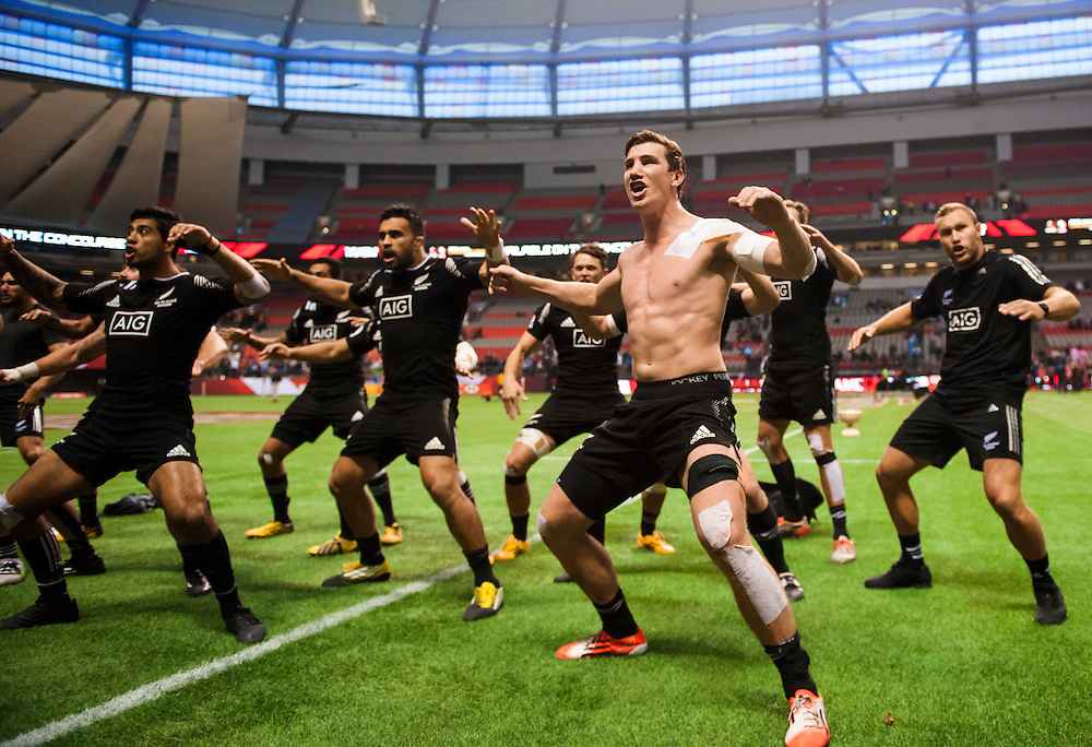 New Zealand celebrate winning the 2016 Canada Sevens leg of the HSBC Sevens World Series Series at BC Place in  Vancouver, British Columbia. Sunday March 13, 2016.<br /> <br /> Jack Megaw<br /> <br /> www.jackmegaw.com<br /> <br /> 610.764.3094<br /> jack@jackmegaw.com