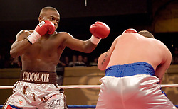 "February 22, 2007 - New York, NY - Peter ""Kid Chocolate"" Quillen knocks out Steve Walker in the first round of their bout at Roseland Ballroom."