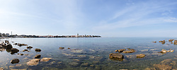 THEMENBILD - Porec ist eine Stadt an der Westkueste von der kroatischen Halbinsel Istrien, im Bild die Skyline von Porec mit Steinen . Aufgenommen am 12. April 2017 // Porec is a town on the western coast of the Croatian peninsula Istria, This picture shows the skyline of Porec with stones, Porec, Croatia on 2017/04/12. EXPA Pictures © 2017, PhotoCredit: EXPA/ Sebastian Pucher