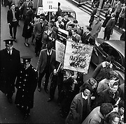 """Ban the Bomb"" protest march through Dublin.01.03.1961"