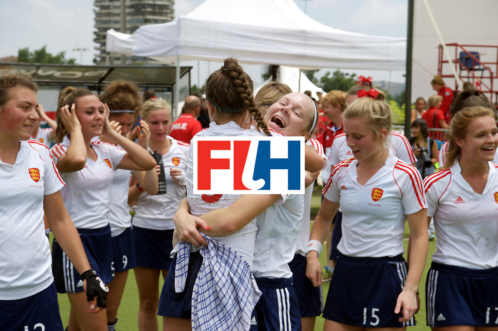 SANTIAGO - 2016 8th Women's Hockey Junior World Cup.<br /> 39 ENG v USA (7 / 8 Place)<br /> foto: England celebrate.<br /> FFU PRESS AGENCY COPYRIGHT FRANK UIJLENBROEK