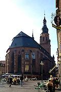 Heidelberg....Marktplatz mit Heiliggeistkirche