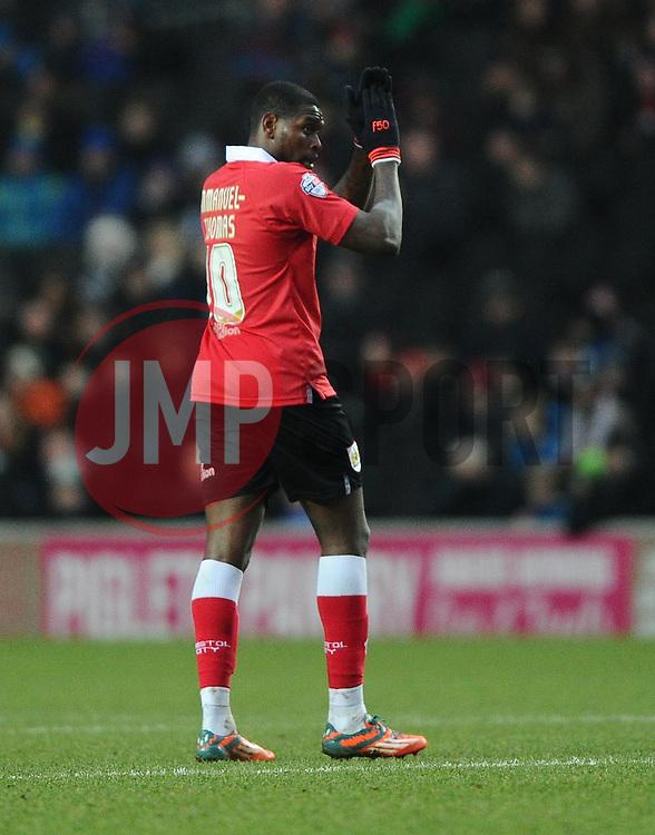 Bristol City's Jay Emmanuel-Thomas  - Photo mandatory by-line: Joe Meredith/JMP - Mobile: 07966 386802 - 07/02/2015 - SPORT - Football - Milton Keynes - Stadium MK - MK Dons v Bristol City - Sky Bet League One
