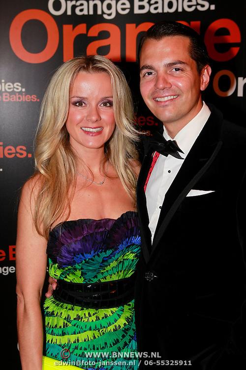 NLD/Noordwijk/20110625 - Orange Babies Gala 2011, Suze Mens en partner Emiel de Sevren Jacquet
