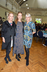 Left to right, CAROLYN DAILEY, MARYAM D'ABO and LADY ANNE LAMBTON at a lunch in aid of the charity African Solutions to African Problems (ASAP) held at the Royal Horticultural Hall, Vincent Square, London on 19th May 2016.