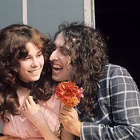 ".Tiny Tim and Little Vicki .- This happy couple were publicly married on the ""Tonight"" show, a US talk show hosted by Johnny Carson. Vicki was the first of three wives, splitting up eight years after this picture was taken. Her desire to resume her career as a model came between them. Born Herbert Khaury in 1932, Tiny Tim was most famous for his falsetto rendition of ""Tiptoe through the Tulips"". He died in 1996"
