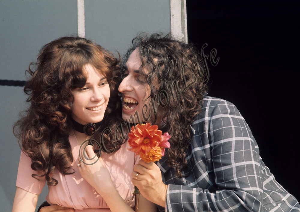 ".Tiny Tim and Miss Vicki .- This happy couple were publicly married on the ""Tonight"" show, a US talk show hosted by Johnny Carson. Vicki was the first of three wives, splitting up eight years after this picture was taken. Her desire to resume her career as a model came between them. Born Herbert Khaury in 1932, Tiny Tim was most famous for his falsetto rendition of ""Tiptoe through the Tulips"". He died in 1996"