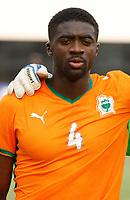Photo: Steve Bond/Richard Lane Photography.<br />Ivory Coast v Benin. Africa Cup of Nations. 25/01/2008. Kolo Toure lines up for Ivory Coast