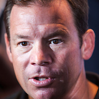 UCLA football coach Jim Mora talks to the media about his teams' upcoming season.